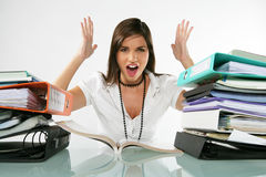 Pretty student upset Stock Images