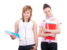 Pretty  students with books Stock Images