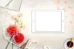 Pretty Styled Desktop Mockup photograph Stock Image