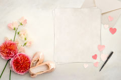 Pretty Styled Desktop Stationery Mockup photograph Stock Photo