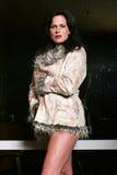 Pretty stylish woman Stock Photography