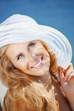 Pretty summer girl Royalty Free Stock Photos