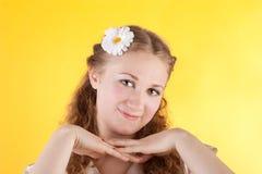 Pretty summer girl royalty free stock photo