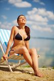 Pretty sunbather Royalty Free Stock Images