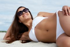 Pretty sunbather Stock Images