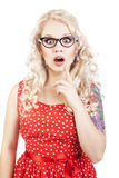Pretty surprised girl Royalty Free Stock Photography
