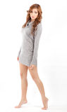 Pretty in Sweater Dress Royalty Free Stock Photos