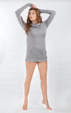 Pretty in Sweater Dress Stock Photos
