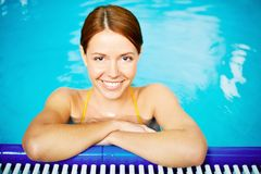 Pretty swimmer Stock Images