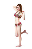Pretty swimsuit fashion young asian woman posing Royalty Free Stock Image
