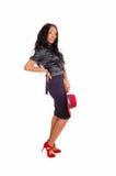 Pretty tall black woman. Stock Photo