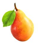Pretty tasty yellow pear Royalty Free Stock Images