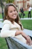 Pretty Teacher on Campus Royalty Free Stock Photo