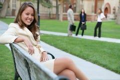 Pretty Teacher on Campus Stock Image