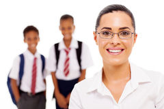 Pretty teacher students Royalty Free Stock Photo