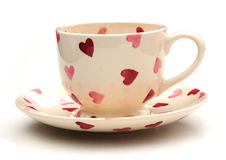Pretty teacup and saucer Royalty Free Stock Images