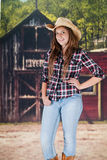 Pretty Teen cowgirl Royalty Free Stock Images