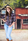 Pretty Teen Cowgril of the Old West Royalty Free Stock Image