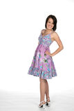 Pretty teen in cute dress Royalty Free Stock Photos