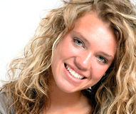Pretty teen face with big smile Stock Photography