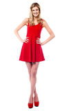 Pretty teen in fashionable outfit Royalty Free Stock Photography