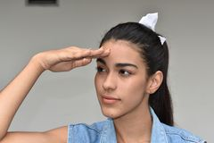 Pretty Teen Female Searching Stock Photos
