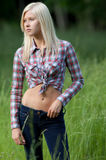 Pretty Teen in Field Stock Photography