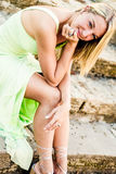 Pretty teen girl with blonde hair Stock Image