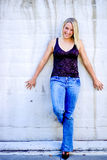 Pretty teen girl with blonde hair Royalty Free Stock Image