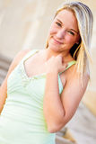 Pretty teen girl with blonde hair Royalty Free Stock Photos