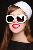 Pretty teen girl with dental braces Royalty Free Stock Photography