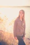 Pretty teen girl Stock Photo