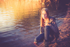 Pretty teen girl Royalty Free Stock Photos