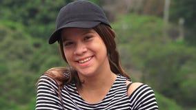 Pretty Teen Girl Smiling stock video