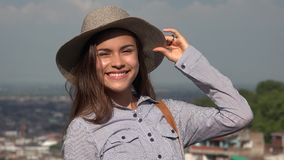 Pretty Teen Girl Smiling stock footage