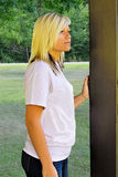 Pretty Teen Girl Standing. Teenage girl standing in the park royalty free stock images