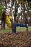 Pretty teen girl on a swing Stock Image