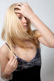 Pretty Teen In Dress And Jewelry Royalty Free Stock Photos