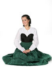 Pretty Teen In Medieval Style Dress Royalty Free Stock Photo