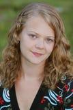 Pretty teen model outdoors Stock Photos