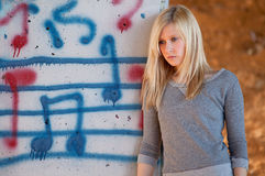 Pretty Teen by Music Graffiti Royalty Free Stock Photos