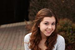 Pretty teen outside Stock Photography
