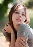 Pretty Teen Outside Stock Photo