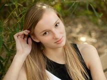 Pretty Teen Outside Royalty Free Stock Image