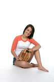 Pretty teen with softball glove Stock Photos