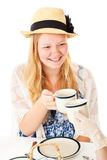 Pretty Teen at Tea Party Royalty Free Stock Photos