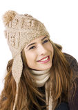 Pretty teen on a white background Royalty Free Stock Images