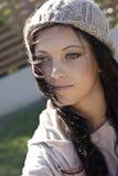 Pretty teenage girl stock photo