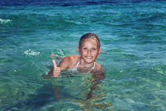 Pretty teenage girl on holiday Royalty Free Stock Image
