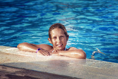 Pretty teenage girl on holiday Royalty Free Stock Images